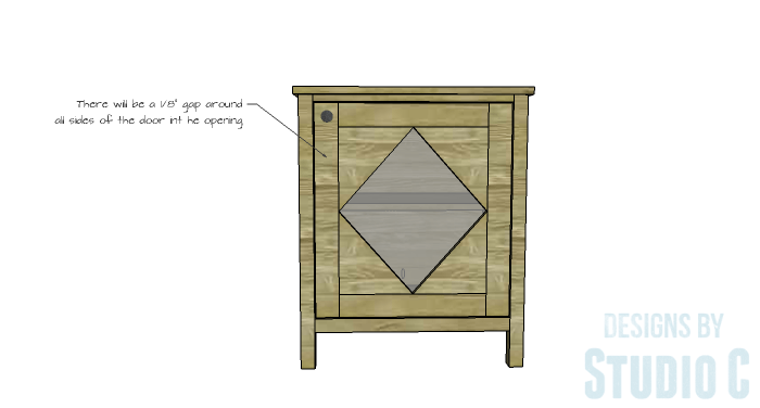 DIY Furniture Plans to Build a Diamond Single Door Cabinet - Door 4