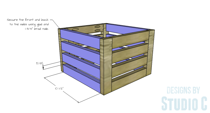 DIY Furniture Plans to Build a Crate Storage Tower - Crate Sides