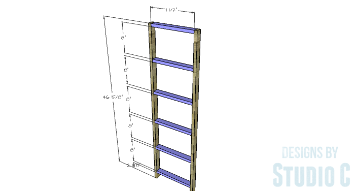 DIY Furniture Plans to Build a Crate Storage Tower - Front & Back Framing