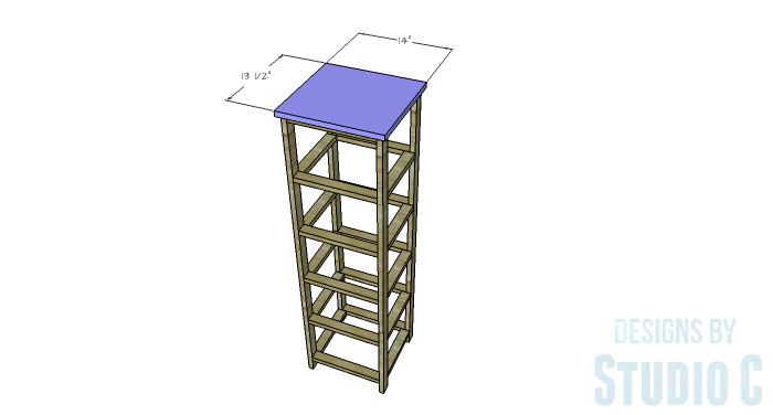 DIY Furniture Plans to Build a Crate Storage Tower - Top