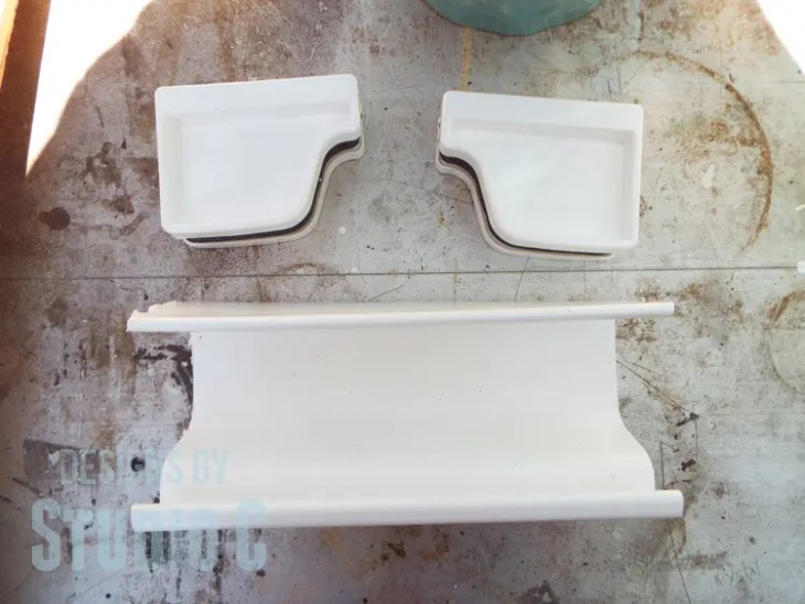 DIY Organizers for a Miter Saw Stand - Gutter & Cap Pieces