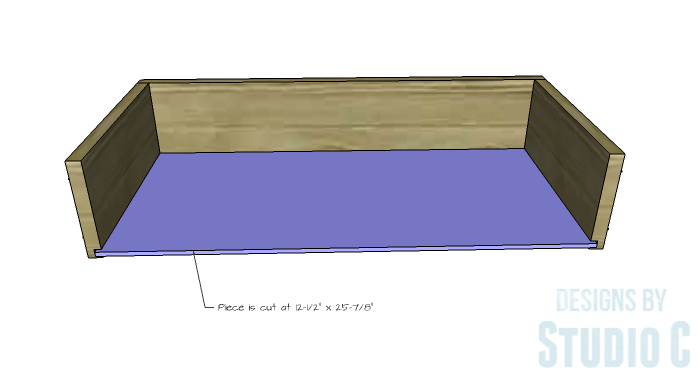 DIY Furniture Plans to Build an Open Bookcase with Drawers - Drawers 3