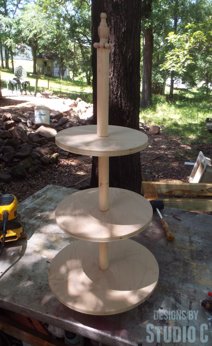 Build a DIY Three Tier Wood Stand - Unfinished
