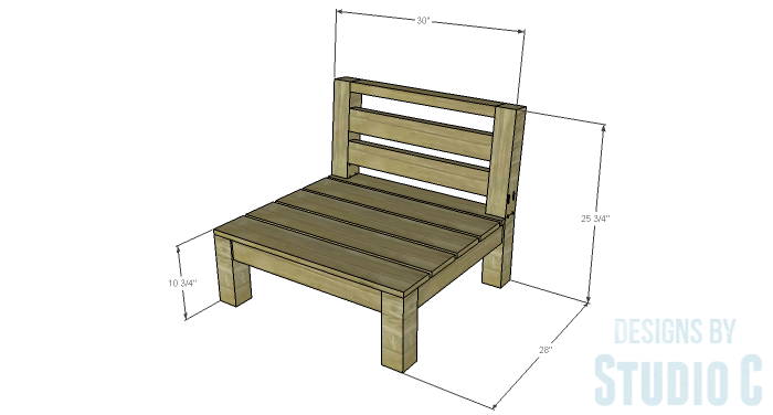DIY Furniture Plans to Build a Low Slung Chair with Slatted Seat