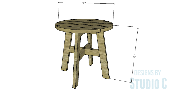 DIY Furniture Plans to Build a Round Cross Base Table