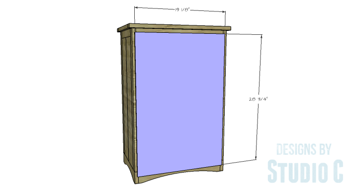DIY Furniture Plans to Build Ryan's End Table - Back