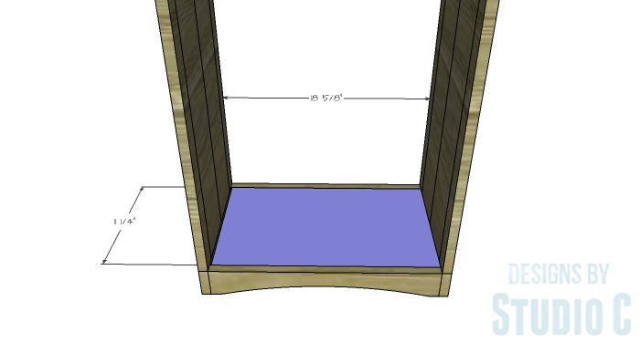 DIY Furniture Plans to Build Ryan's End Table - Bottom Shelf