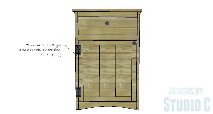 DIY Furniture Plans to Build Ryan's End Table - Door 2