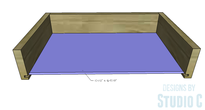 DIY Furniture Plans to Build Ryan's End Table - Drawer Box 3