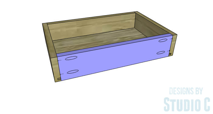 DIY Furniture Plans to Build Ryan's End Table - Drawer Box 4