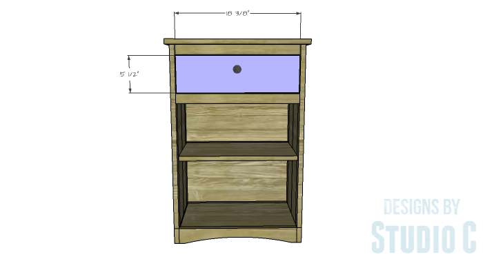 DIY Furniture Plans to Build Ryan's End Table - Drawer Front