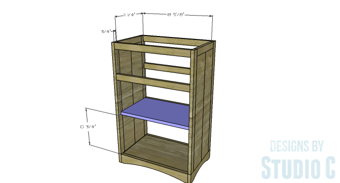 DIY Furniture Plans to Build Ryan's End Table - Shelf