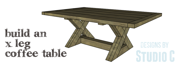DIY Furniture Plans to Build an X Leg Coffee Table - Copy