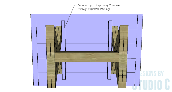 DIY Furniture Plans to Build an X Leg Coffee Table - Top 2