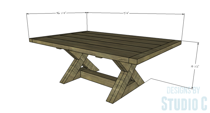DIY Furniture Plans To Build An X Leg Coffee Table