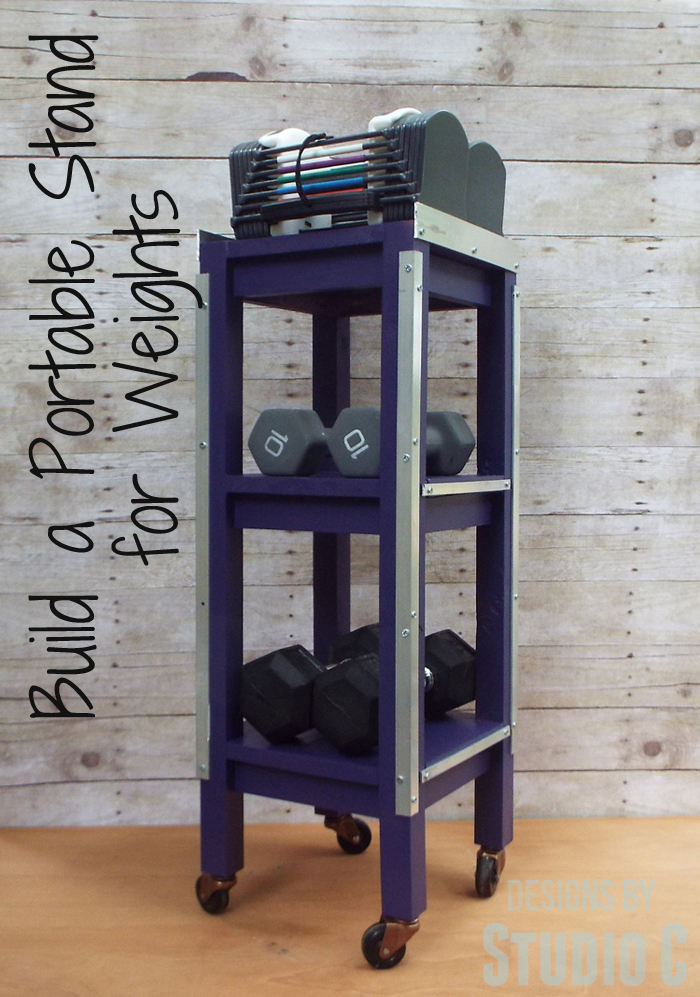 DIY Furniture Plans to Build a Portable Stand for Weights and PowerBlocks - Featured Image