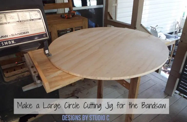 Build a DIY Large Circle Cutting Jig for a Bandsaw