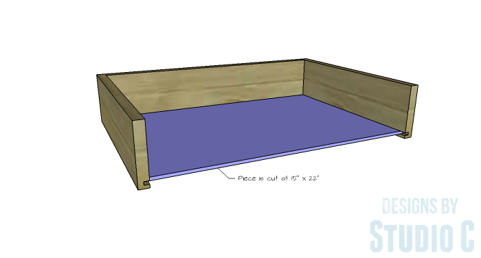 DIY Furniture Plans to Build a Dresser with Side Storage - Drawer 3