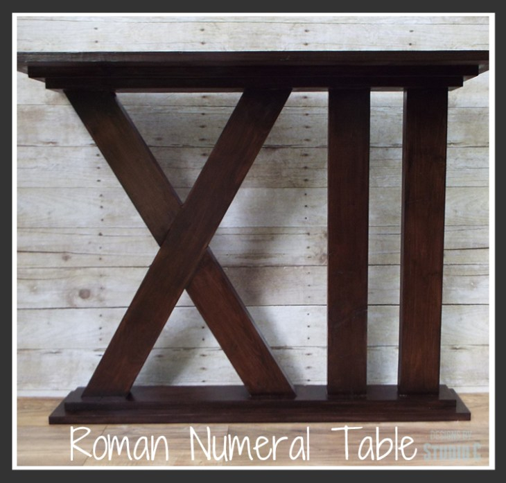 DIY Furniture Plans to Build a Roman Numeral Console Table Featured Image Large