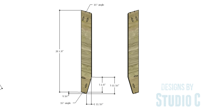 DIY Furniture Plans to Build a Roman Numeral Console Table - V 1