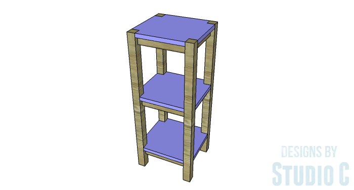 DIY Furniture Plans to Build a Portable Stand for Weights and PowerBlocks - Shelves in Place