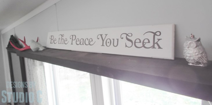 DIY Wall Sign with Scrappy Moulding - On Shelf