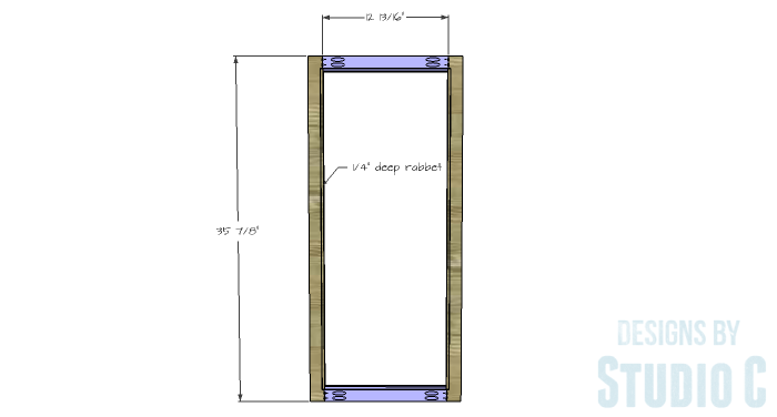 DIY Furniture Plans to Build a Hemnes Inspired Glass Door Cabinet - Doors 1