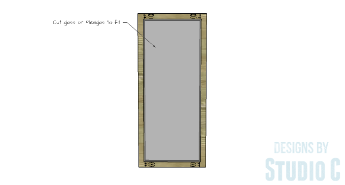 DIY Furniture Plans to Build a Hemnes Inspired Glass Door Cabinet - Doors 2