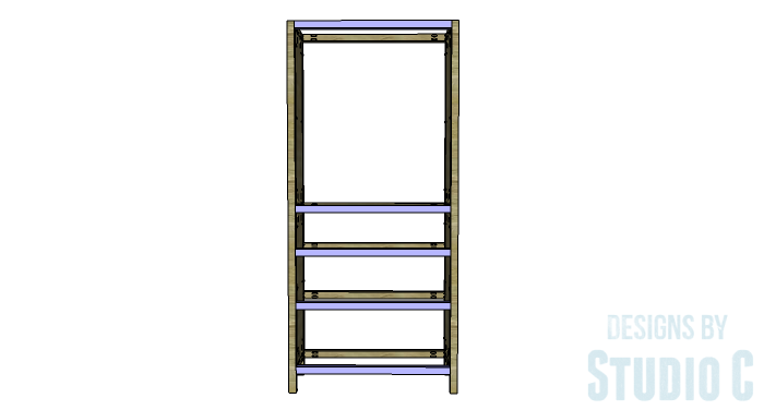 DIY Furniture Plans to Build a Hemnes Inspired Glass Door Cabinet - Front Stretchers