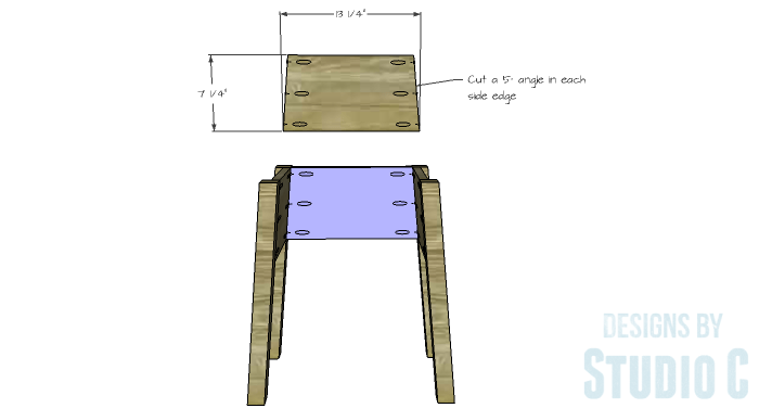 DIY Furniture Plans to Build an IKEA Inspired Selje End Table - Back