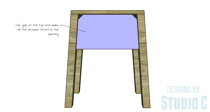 DIY Furniture Plans to Build an IKEA Inspired Selje End Table - Drawer Front 2
