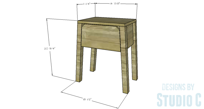 DIY Furniture Plans to Build an IKEA Inspired Selje End Table