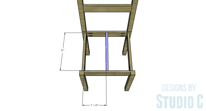 DIY Furniture Plans to Build a Long Chair Bench - Seat Support