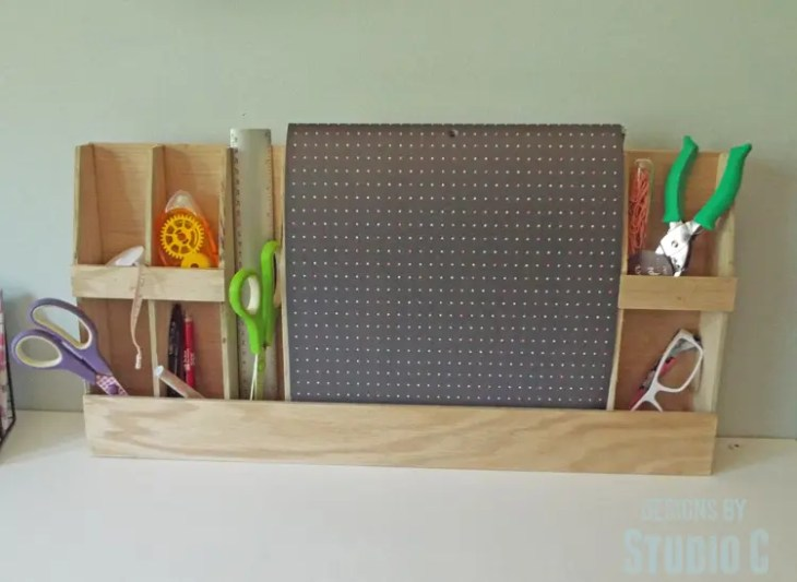 DIY Knock-Off Wood Wall Organizer - with supplies