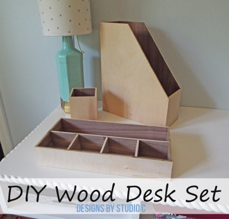 DIY Plans to Make a Wood Desk Set