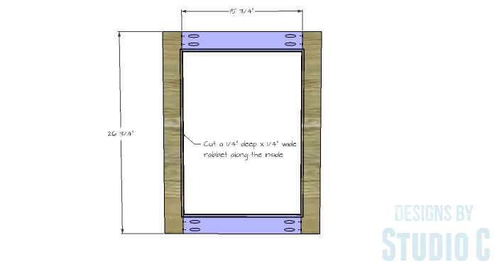 DIY Furniture Plans to Build a Stackable Cabinet - Doors 1
