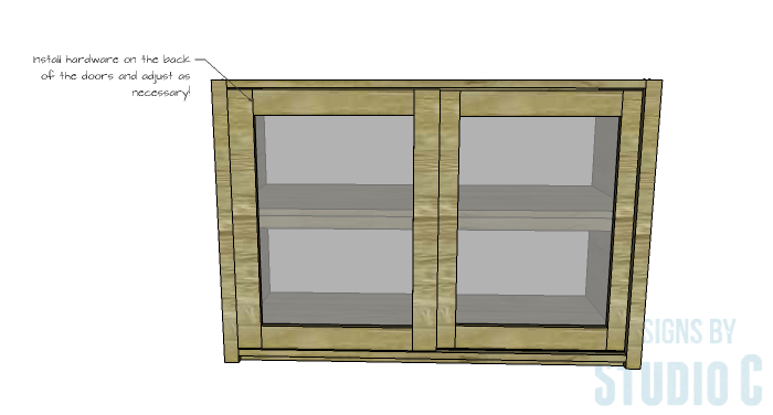 DIY Furniture Plans to Build a Stackable Cabinet - Doors 3