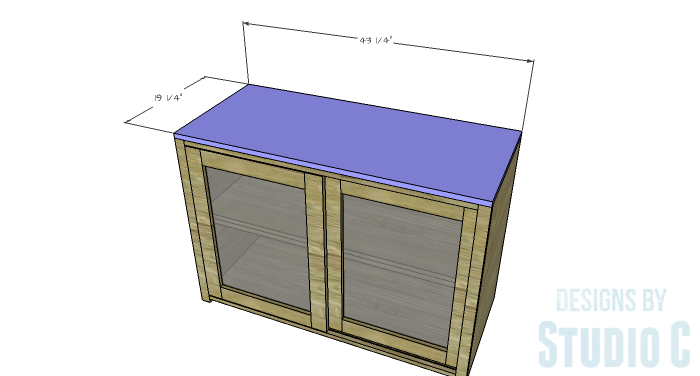 DIY Furniture Plans to Build a Stackable Cabinet - Top