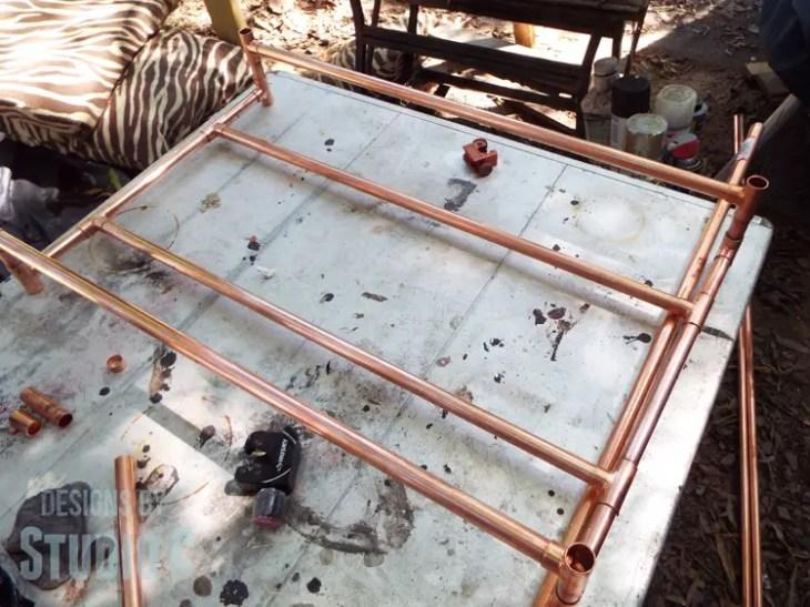 DIY Copper Pipe Bar Cart with Wood Shelves - Cart Shelf Assemblies
