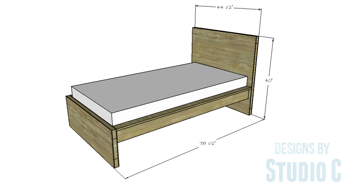 Free Furniture Plans to Build a DIY Ikea Inspired Malm Twin Bed