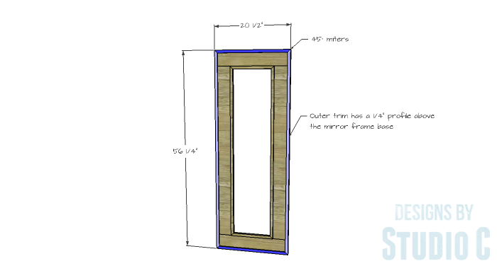 DIY Furniture Plans to Build a Simple Mirror Frame -outer-trim