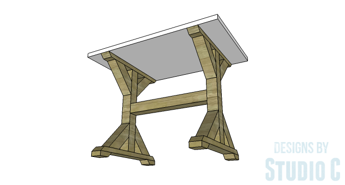 DIY Furniture Plans to Build a Ballard Designs Inspired Tatum Trestle Counter Table-copy-2