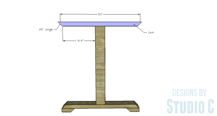 DIY Furniture Plans to Build a Ballard Designs Inspired Tatum Trestle Counter Table-top-support