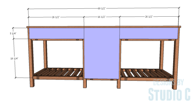 DIY furniture plans to build a Cuszco Console Table_Back