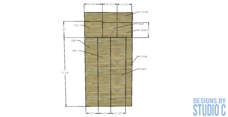 diy-furniture-plans-build-bathroom-linen-tower_plywood-cutting-diagram