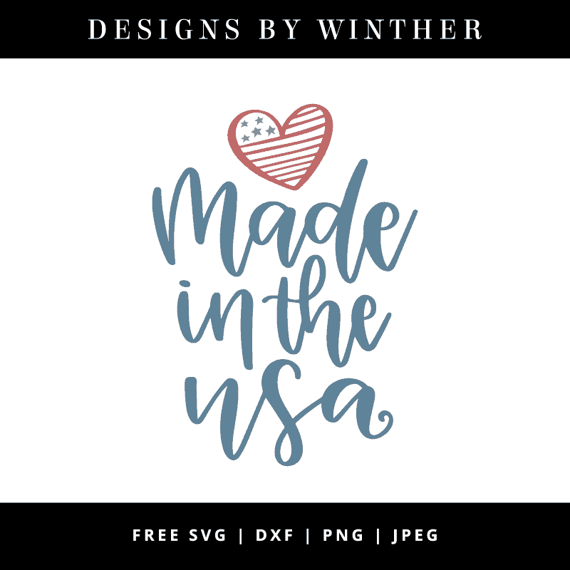 Download Free Made in the USA SVG DXF PNG & JPEG - Designs By Winther