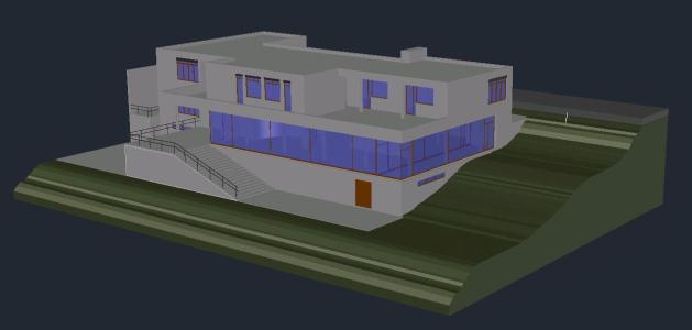 Villa Tugendhat 3D DWG Model For AutoCAD Designs CAD