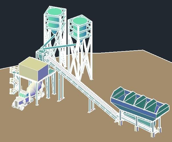 Concrete Batch Plant Dwg Block For Autocad Designs Cad