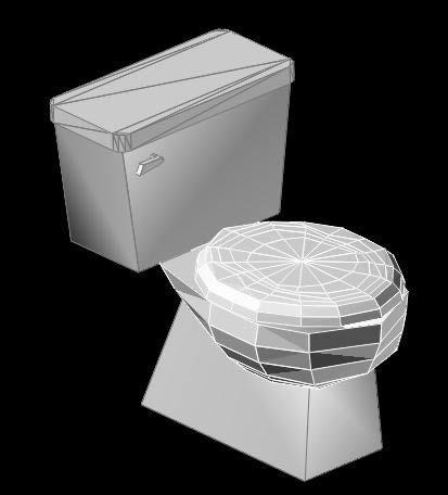 Toilet 3D DWG Model for AutoCAD • Designs CAD on Model Toilet Design  id=29027