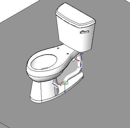 Toilet Bag 3D DWG Model For AutoCAD Designs CAD